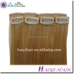 Wholesale different weight 100g 120g 160g 220g 260g 100% Full Cuticle bohemian hair extensions full head clip