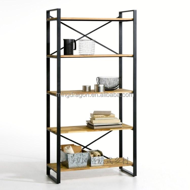 exportation de style fran ais bois de fer biblioth que vitrine style loft tag re table en bois. Black Bedroom Furniture Sets. Home Design Ideas