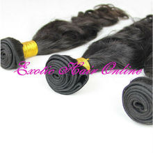 Exotichair black hair bands remy hair weft