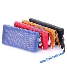 Rose Snake Skin Women ladies Leather Wallet Zipper Purse