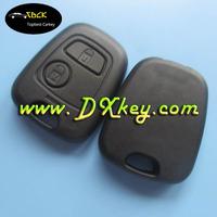 2 button remote shell no logo and no blade car key shell for Peugeote car remote shell car key citroen peugeot