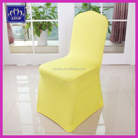 Yellow Lycra Chair Cover Elastic Spandex Chair Cover For Wedding
