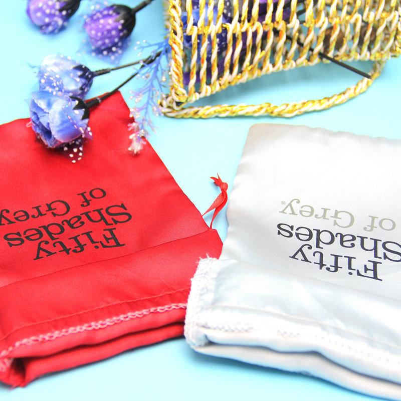 High quality OEM silk screen printed satin bag with logo