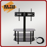 8mm Thickness Tempered Glass Modern Design LCD TV Stand