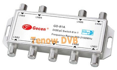 Приемник спутникового телевидения DiSEqC GD 81 8 x 1, 8 1 DiSEqC FTA TV LNB