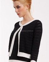 Channel style black and white shrug design for women