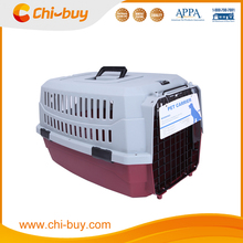 Chi-buy Fashion Pet Flight Carrier Designer Plastic Pet Carrier Red and Wihte Free Shipping on order 49usd