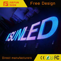 Roof building punching changeable led letter sign