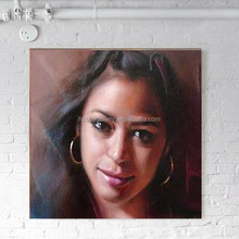 Custom original portrait oil painting,museum quality hand painted oil portrait on canvas,pencil drawing portrait