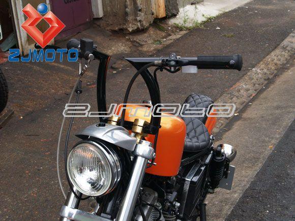 """Black Drag 1"""" Z Bars Motorcycle Pullback Handlebars Custom Chopper Bobber """"hi"""" barbe rack inch dent existence"""