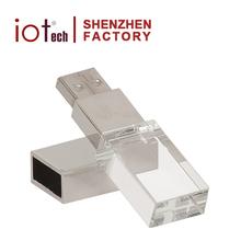 8GB Cheap Custom Logo Engraved Business Gift Crystal Glass USB Flash Drive