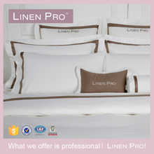 LinenPro 250TC 100% Cotton Sheet Set Wholesale Cross Stitch Satin Bed Sheet