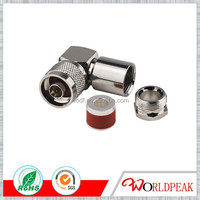 n male clamp right angle connector for 8d-fb rg8 cable