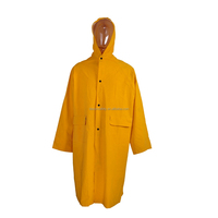 High Visibility Outdoor Water Proof Polyester PVC Yellow One Piece Rain Suit