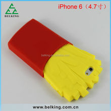 New arrival!!! Fashion french fries silicon case for iPhone 6 4.7 inch