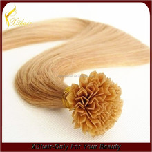 100 Percent Real Human Hair Wholesale Cheap Remy Hair Extensions V-Tip Hot Fusion Hair Extensions