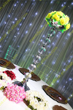 Acrylic bead shape flower stand , silver table centerpieces for wedding decoration