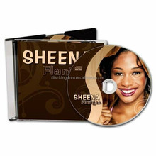 Super clear slimline jewel case printed 2 panel insert CD package