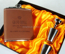 Gift Boxes Wholesale Hip Flask Leather Hip Flask And Bottle