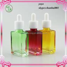 hot-selling rectangular glass dropper bottle,rectangular essential oil glass dropper bottle, rectangular essential oil glass