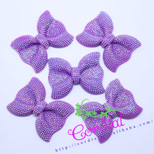 New Arrival Products Jewelry Accessory Purple Resin Bowknot Accessories For DIY Chunky Necklace