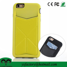 New products kickstand tpu+ pu credit card holder case for iphone 6 card case