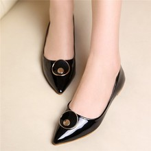 HFR-AS36 2015 Europe pointed shoes comfortable flat metal decoration fashion shoes women's shoes