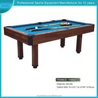 Model#HPP09 sturdy modern wooden billiard table guangzhou