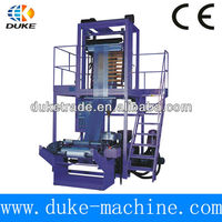 Hot-shrinkable polythene film blowing machine