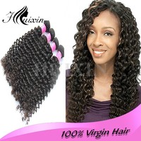 High Quality Wholesale Deep Curly Natural Colour 100% Unprocessed Virgin Peruvian Hair
