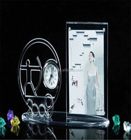 desktop exquisite digital acrylic table clock with photo frame