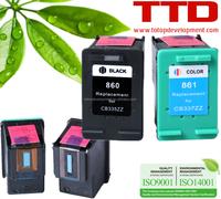 TTD Refillable Ink Cartridge 860 CB335ZZ 861 CB337ZZ for HP Deskjet D4260 Officejet J5700 J5780 Photosmart C4280 Cartridge
