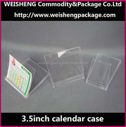 Best selling transparent plastic calendar case/table desk calendar