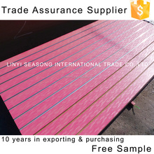 shandong linyi 1220*2440*15mm 11 grooves melamine mdf slotted wall board