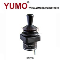YUMO HA200 2-axis 2d industrial handle joysticks auto spring return potentiometer joystick
