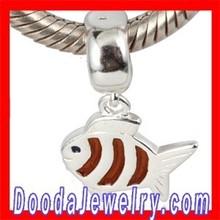 Wholesale Fish Dangle Charm Beads Fit European Braceret