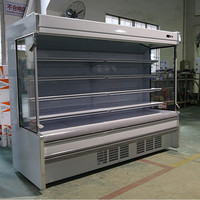 Grocery open refrigerated showcase/Supermarket fruit and vegetable display refrigerator/Upright display cooler/Multi-deck case