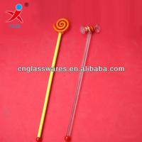 hand made glass swizzle sticks