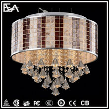 Modern popular luxury crystal pendant light with high quality from zhongshan factory