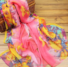 2015 Spring new arrival ladies digital print silk scarf