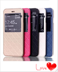 Phone case manufacturing PU leather mobile flip stand case for iphone 6 plus cover
