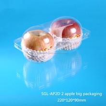 2 apple container plastic