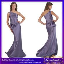 satén de color púrpura de un hombro de largo zuhair murad vestidos para la venta de diseño simple vestido de fiesta
