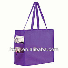2014 hot non woven eco-friendly shopping tote bag with pocket