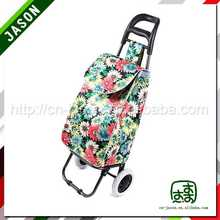 travel luggage cart die cut handle bag