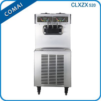 2015 new type 2+mixed flavors with CE approved stainless steel commercial floor standing fruit ice cream machine