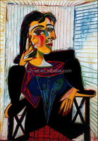 Portrait of Dora Maar wall painting by Picasso