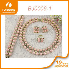 Bestway new arrival wedding jewelry set/coral beads necklace/african beads for wedding jewelry set BJ0006-1