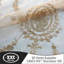 2015 New design embroidery decorative curtain design