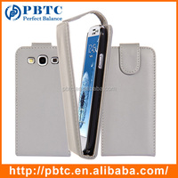 Set Screen Protector Stylus And Case For Samsung Galaxy S3 I9300 , Gray Fancy Leather Phone Cover